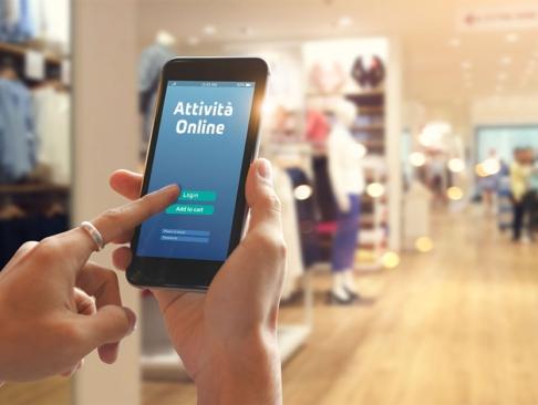 Smartphone all'interno del punto vendita