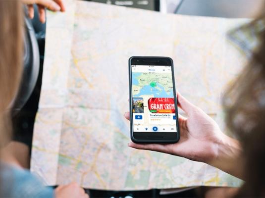 Smartphone mappe app circuito
